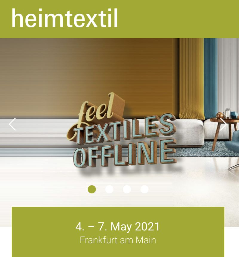 Heimtextil 2021 posponed to May